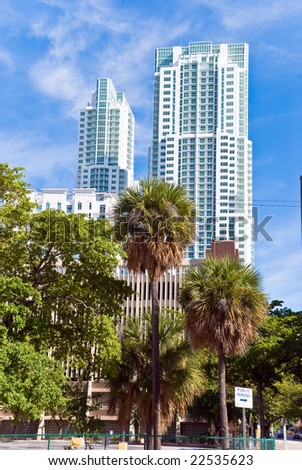 luxury condominiums in miami - stock photo