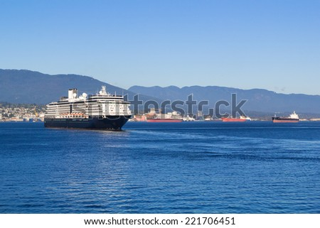Luxury Cruise Ship - stock photo