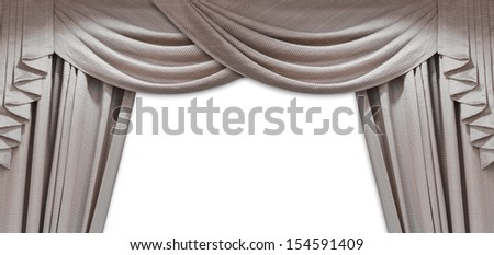 Luxury curtain - stock photo