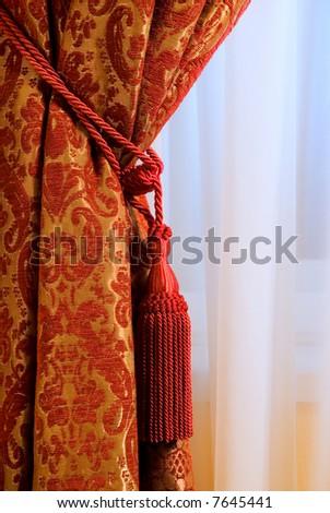 Luxury curtain - stock photo