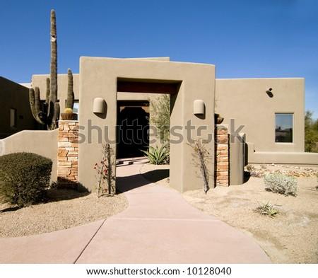 Luxury Desert Home - stock photo