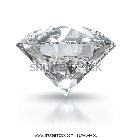Luxury diamond isolated on white background with clipping path - stock photo