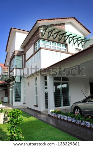 Luxury family house - stock photo
