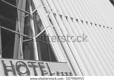 Luxury four-star hotel in Europe - stock photo