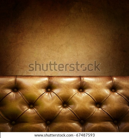 Luxury Furniture with copyspace. Genuine leather - stock photo