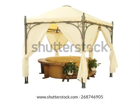 Luxury garden tent - stock photo