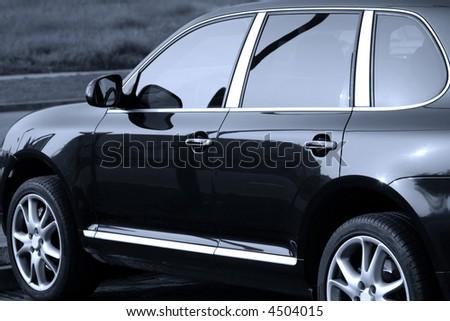 Luxury German SUV. - stock photo