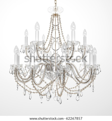 Crystal chandelier stock images royalty free images vectors luxury glass chandelier on white background mozeypictures Images