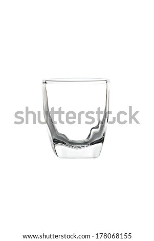 luxury glass isolated on a white background. - stock photo