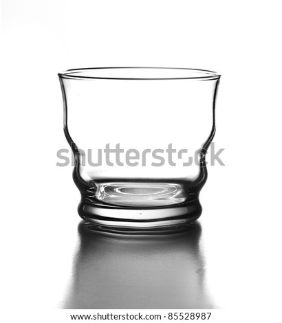 luxury glass isolated on a white background