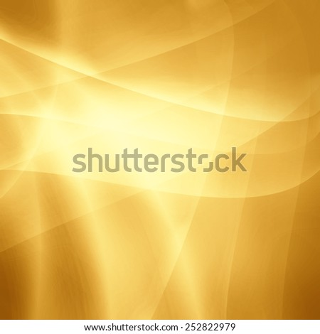 luxury gold background design element, shiny white lines criss crossing in random abstract pattern with glowing light accent - stock photo