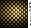 Luxury golden fence mosaic - stock photo