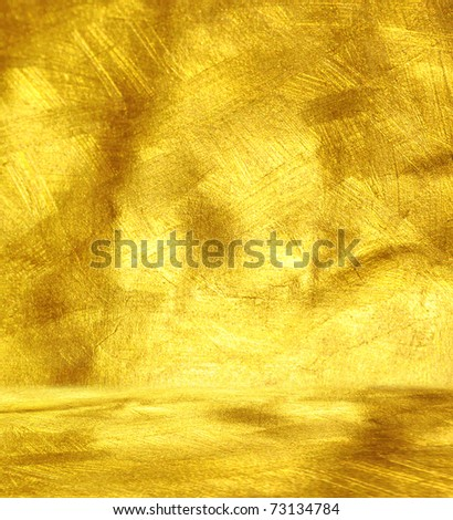Luxury golden interior. - stock photo