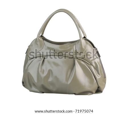 Luxury gray fashion handbag - stock photo