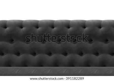 Luxury Grey, Bronze, Black sofa velvet cushion close-up pattern background on white - stock photo