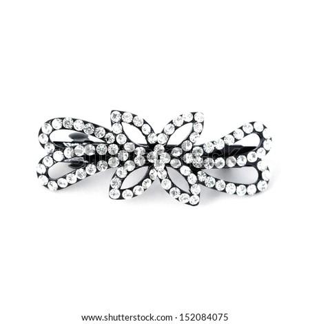 Luxury hair pin isolated on white background - stock photo