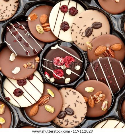 Luxury handmade chocolate - stock photo