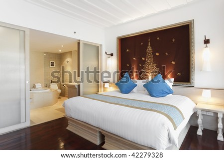 luxury heritage bedroom interior design - stock photo