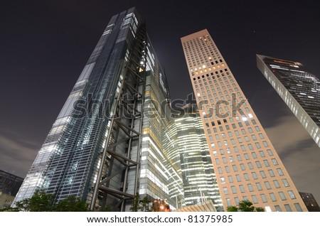Luxury High rises near Shidome, Tokyo, Japan. - stock photo