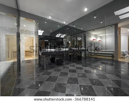 Luxury home bathroom - stock photo