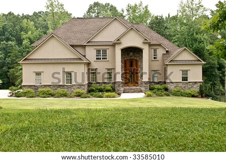 Luxury Home In Expensive Subdivision (Space for Text in Grass)