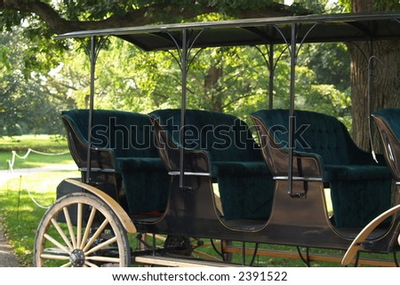 luxury horse-car - stock photo