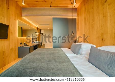 luxury hotel bedroom with nice decoration - Orange Hotel Decoration
