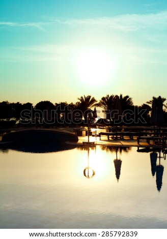 Luxury Hotel in the Morning  - stock photo