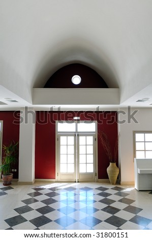 Luxury Hotel Lobby - stock photo