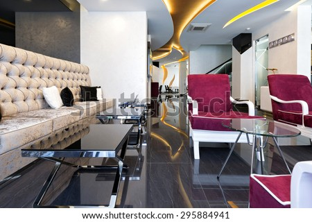 Luxury hotel lobby interior - stock photo
