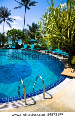 Luxury Hotel Pool - stock photo