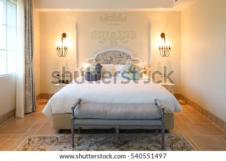 Luxury Hotel Room Suite French Countryside Style Resort Lovely And Comfortable Master