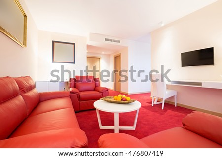 Luxury hotel suite interior