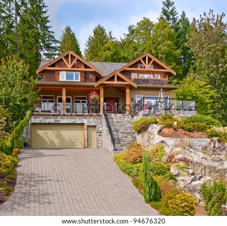 Luxury house in North Vancouver, Canada.