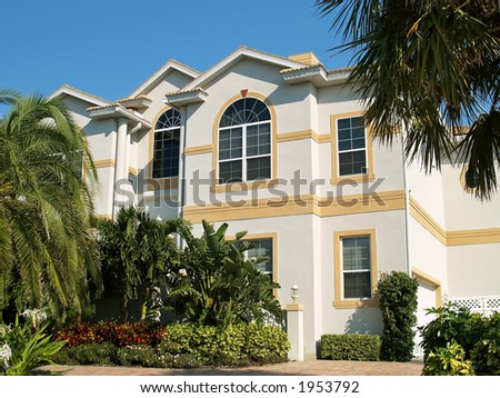 Luxury house in tropic region
