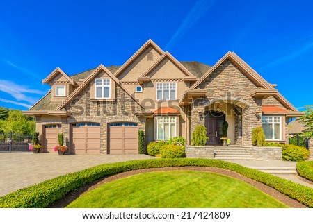 Luxury house in Vancouver, Canada - stock photo