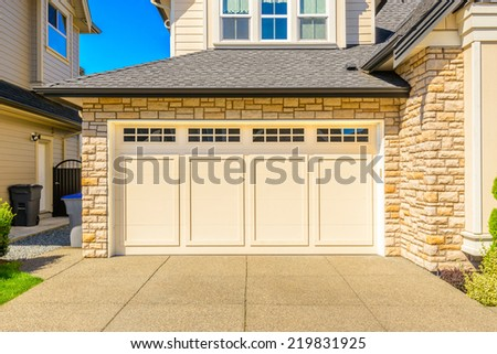Double storey stock images royalty free images vectors for 10 x 7 garage door canada