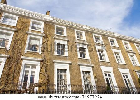 Luxury housing in Knightsbridge London - stock photo