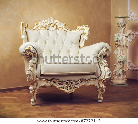 Luxury Interior . Carved Furniture - stock photo