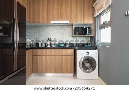 Luxury Interior kitchen - stock photo