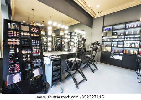 Luxury interior of beauty salon.