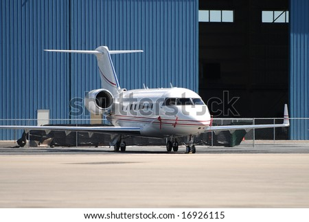 Luxury jet airplane for charter service - stock photo