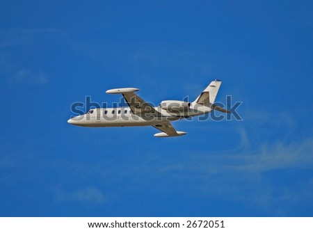 Luxury jet for corporate and private charter - stock photo