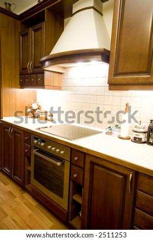 luxury kitchen - stock photo