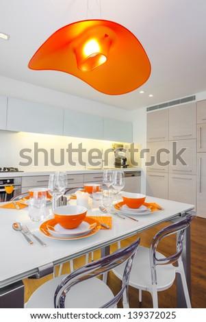 Luxury Kitchen Design - stock photo