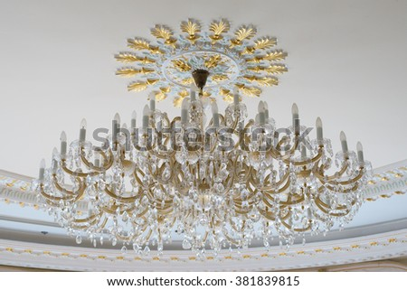 Luxury lamp on the ceiling - stock photo