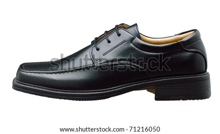 Luxury leather men shoe for businessman an image isolated on white  - stock photo