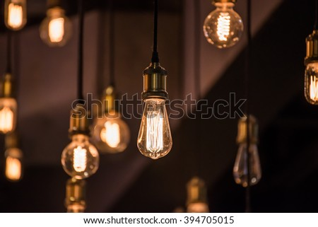 Luxury Lighting Decor - stock photo