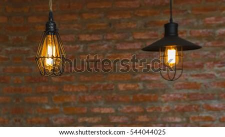 Luxury lighting decoration over the brick wall background & Luxury Lighting Decoration Stock Photo 275547878 - Shutterstock azcodes.com