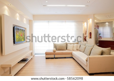 Luxury living room - stock photo